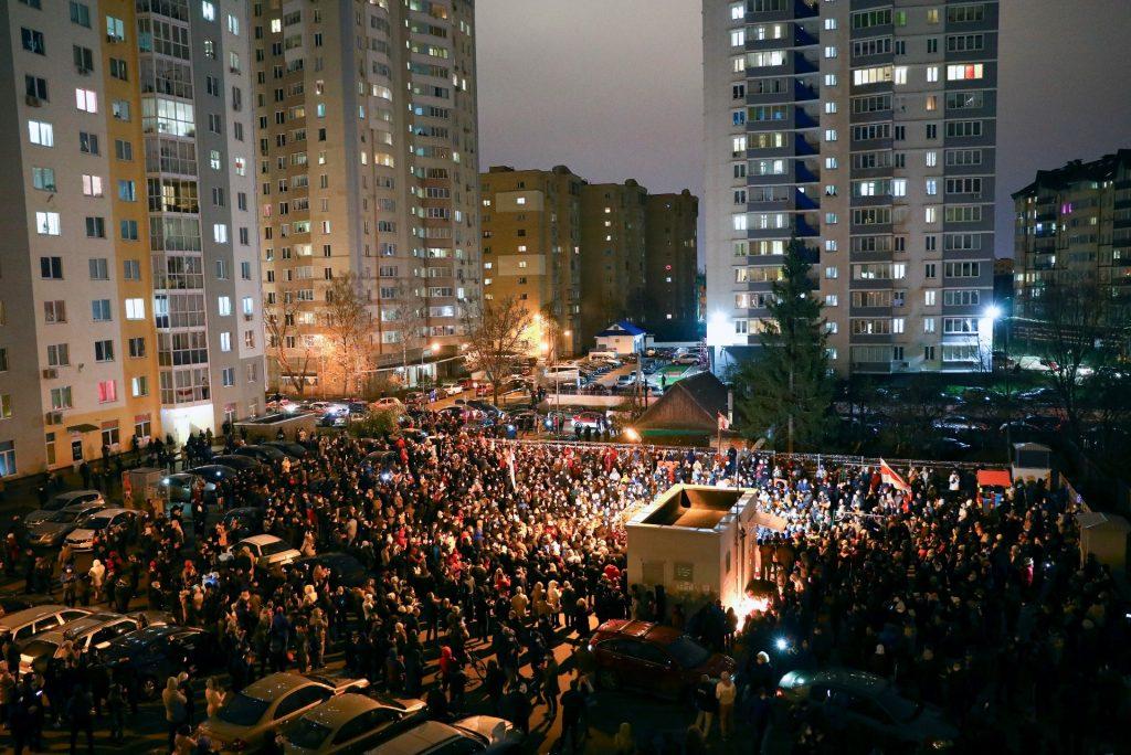 V Minsku opäť masové zhromaždenia proti režimu