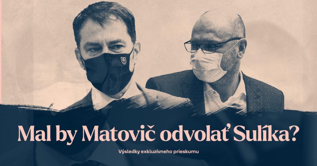 Až 44 percent ľudí unavuje konflikt Igora Matoviča a Richarda Sulíka