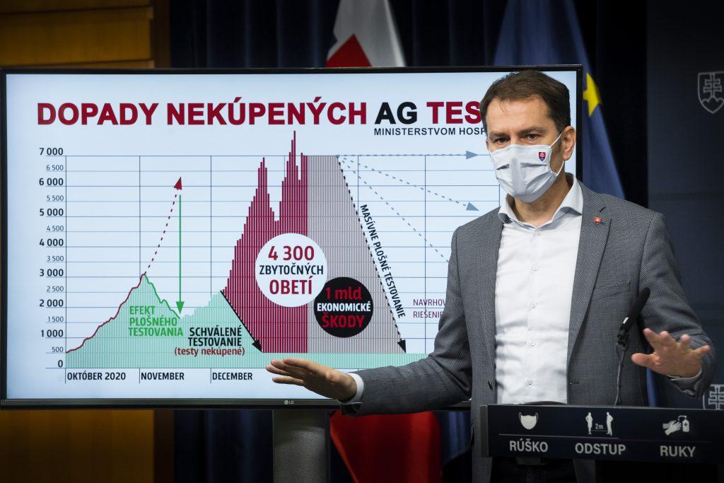 Premiérov plán: plošné testovanie každý týždeň a podmienky ako v Nitre