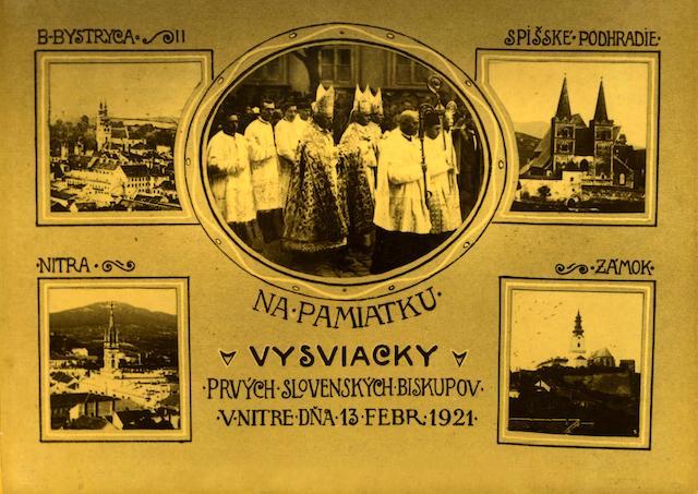 Pred 100 rokmi v Nitre vysvätili prvých slovenských biskupov v Československu