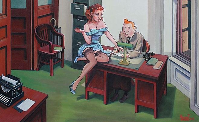 Umelec zobrazuje Tintinov sexuálny život. Dediči autorských práv ho žalujú